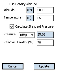 Exbal Field Conditions Screen